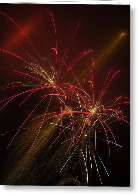 Pyrotechnics Greeting Cards - Light Up The Night Greeting Card by Garry Gay