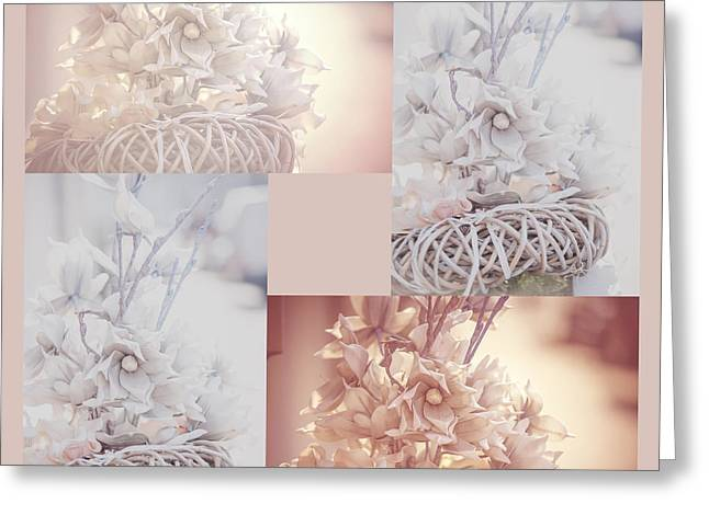 Light Vintage Dream. Square Polyptych Greeting Card by Jenny Rainbow