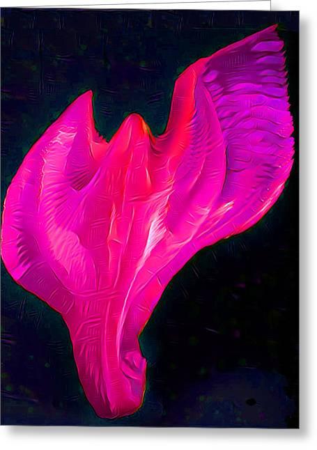Light Warrior Goddess - Pink/purple Greeting Card by Artistic Mystic