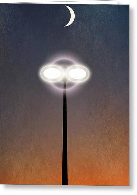 Streetlight Greeting Cards - Light Greeting Card by WB Johnston