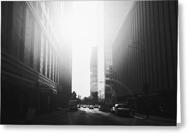 Streetphotography Greeting Cards - Light Wins Greeting Card by Henry Lohmeyer