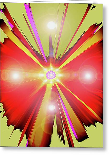 Rotes-chakra Greeting Cards - Lightcross No. 01 Greeting Card by Ramon Labusch