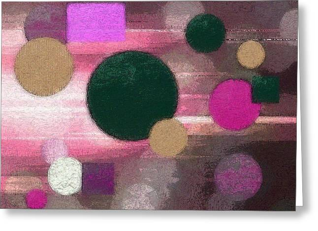 Geometric Artwork Greeting Cards - Lighted Way Greeting Card by Lisa S Baker