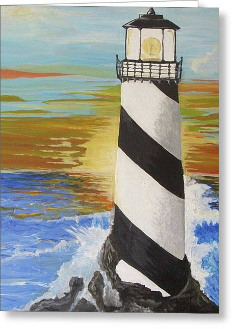 Lighthouse #3 Greeting Card by Scott Murphy