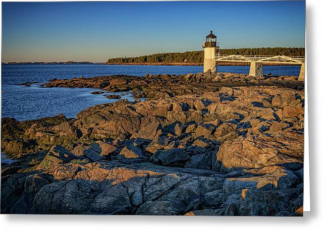 Lighthouse At Marshall Point Greeting Card by Rick Berk