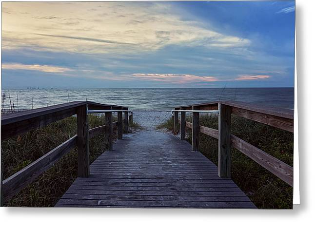 Kim Photographs Greeting Cards - Lighthouse Beach - Sanibel Island Greeting Card by Kim Hojnacki