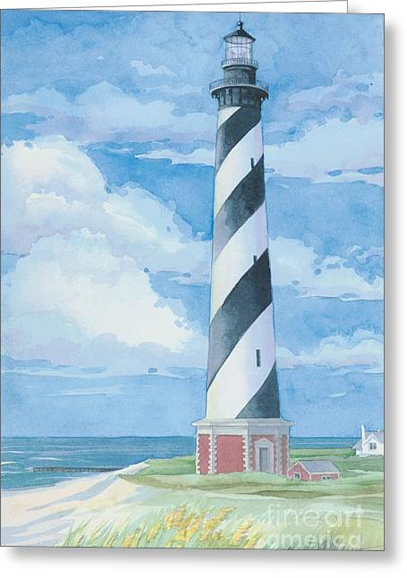 Light House Greeting Cards - Lighthouse Cape Hatteras Greeting Card by Paul Brent