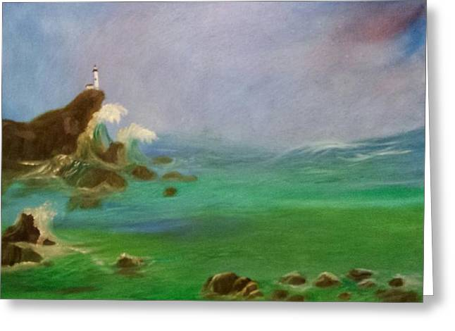 Licensor Greeting Cards - Lighthouse Greeting Card by Cindy Harvell