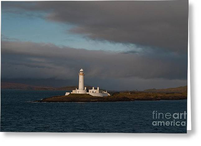 Lighthouse Eilean Musdile Scotland Greeting Card by Atlas Photo Archive