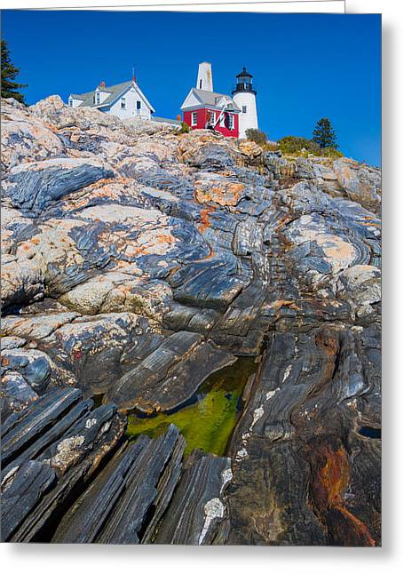 Cape Neddick Lighthouse Greeting Cards - Lighthouse  Greeting Card by Emmanuel Panagiotakis