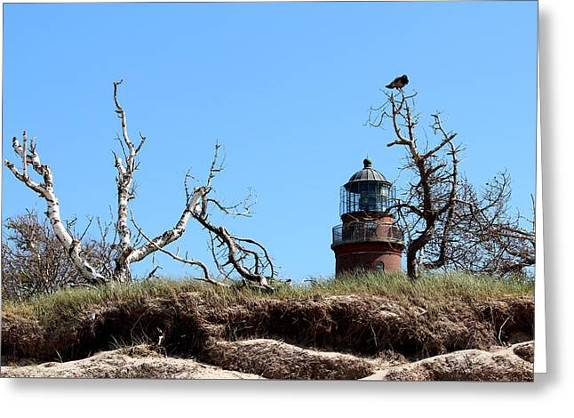 Summer Storm Greeting Cards - Lighthouse Greeting Card by Heike Hultsch