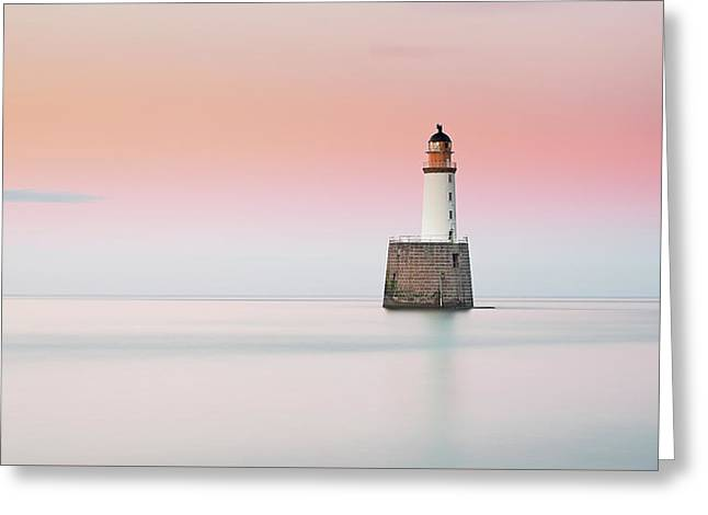 Scotland Greeting Cards - Lighthouse Hues Greeting Card by Grant Glendinning
