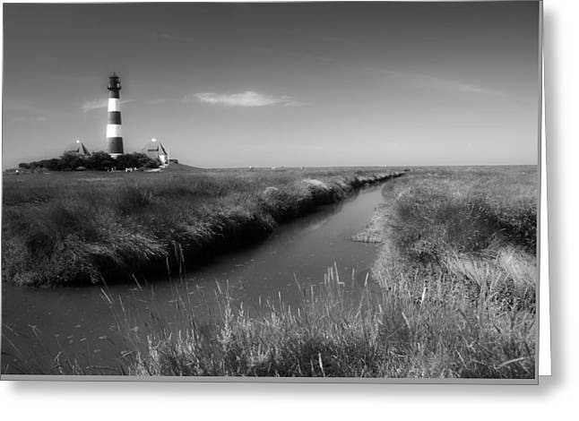 North Sea Greeting Cards - Lighthouse In Germany Greeting Card by Rgp