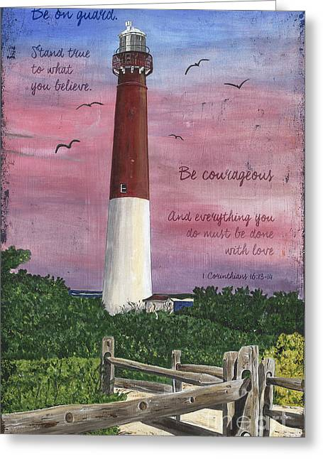 Lighthouse Inspirational Greeting Card by Debbie DeWitt