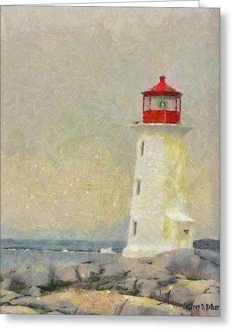 Lighthouse Greeting Card by Jeff Kolker