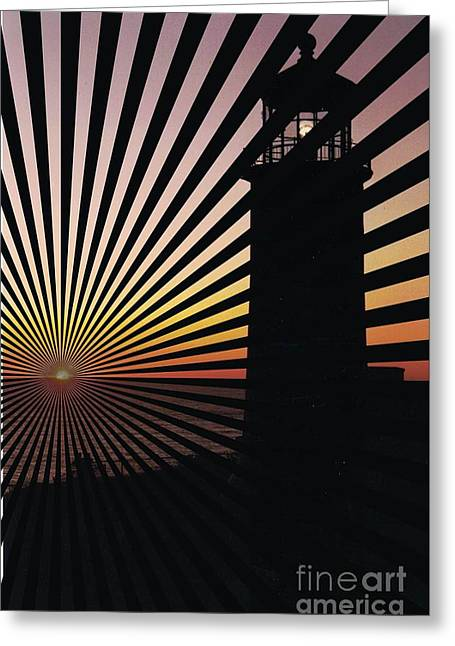 Lighthouse Lines Greeting Card by RJ Aguilar