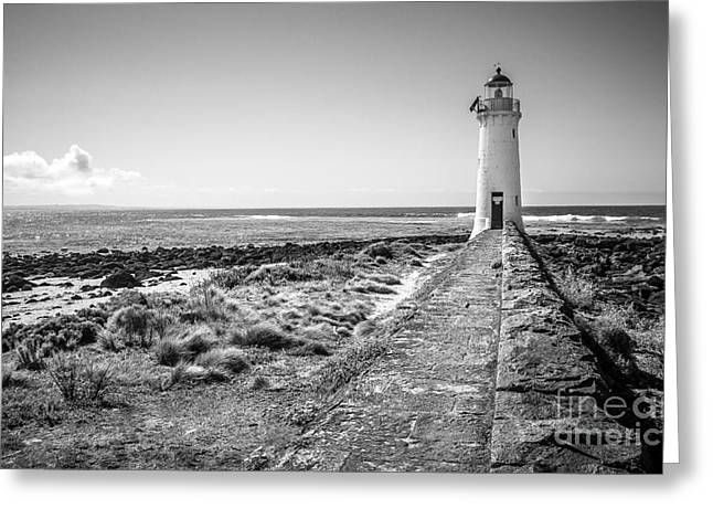 Lighthouse Morning Greeting Card by Perry Webster