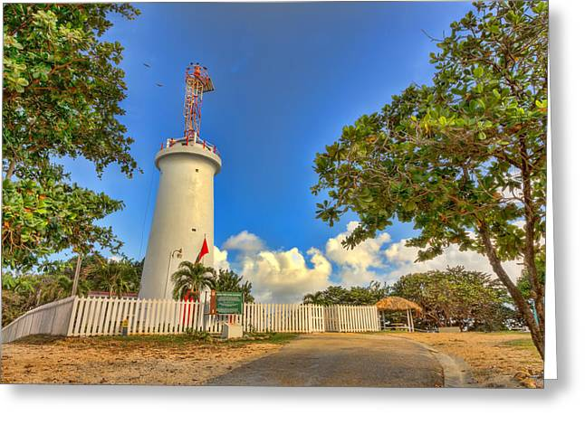 Old Roadway Greeting Cards - Lighthouse Greeting Card by Nadia Sanowar