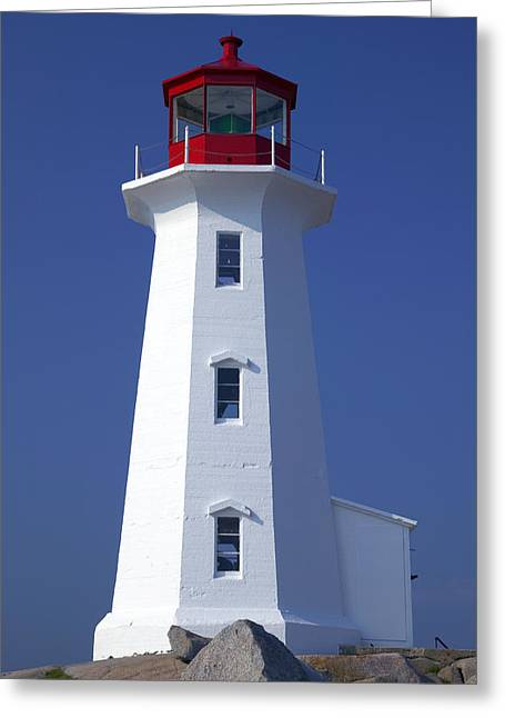 Structures Greeting Cards - Lighthouse Peggys cove Greeting Card by Garry Gay