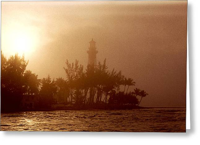 Brent L Ander Greeting Cards - Lighthouse Point Sunrise Greeting Card by Brent L Ander