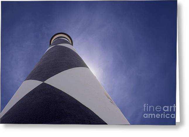 Harkers Island Greeting Cards - Lighthouse Greeting Card by Rob Byron