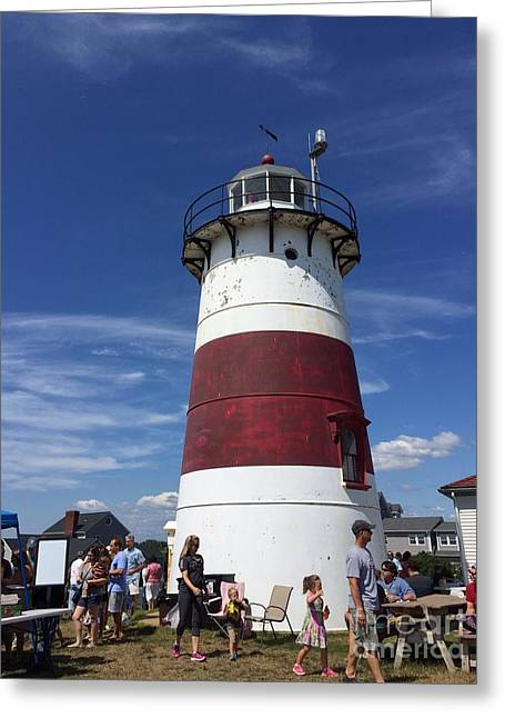 Stratford Ct Greeting Cards - Lighthouse - Stratford CT Greeting Card by Anne Quinn