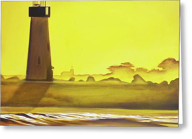 Lighthouses  Greeting Card by Yeshe Jackson