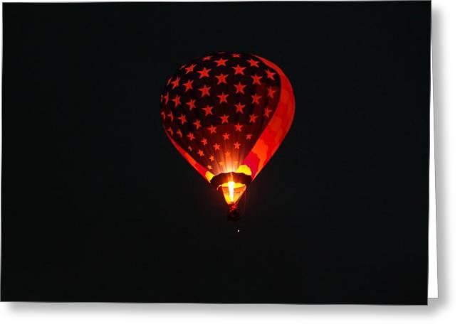 Lighting Up The Dark Greeting Card by Jeff Swan