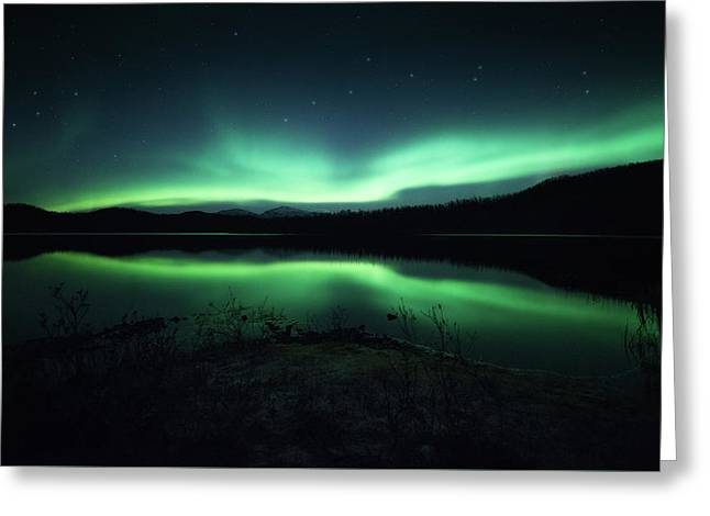 Lighting Up The Dark Greeting Card by Tor-Ivar Naess