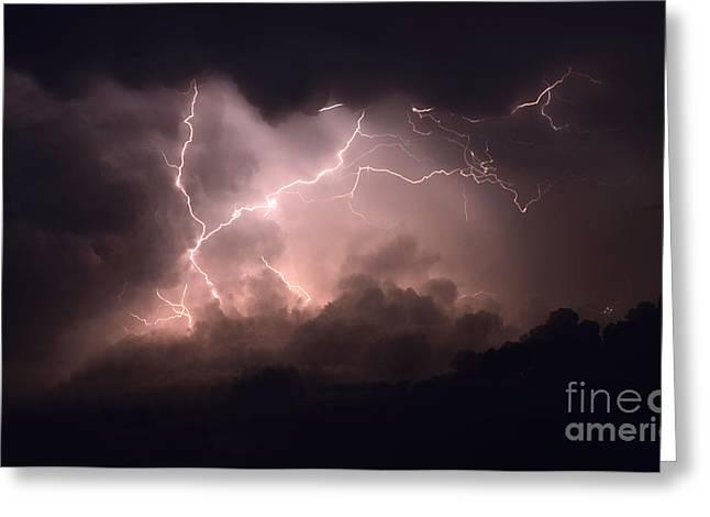 Lightning Photographer Photographs Greeting Cards - Lightning 2 Greeting Card by Bob Christopher