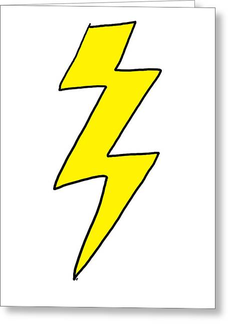 Apparel Greeting Cards - Lightning Bolt - Scott pilgrim vs The World Greeting Card by Paul Telling