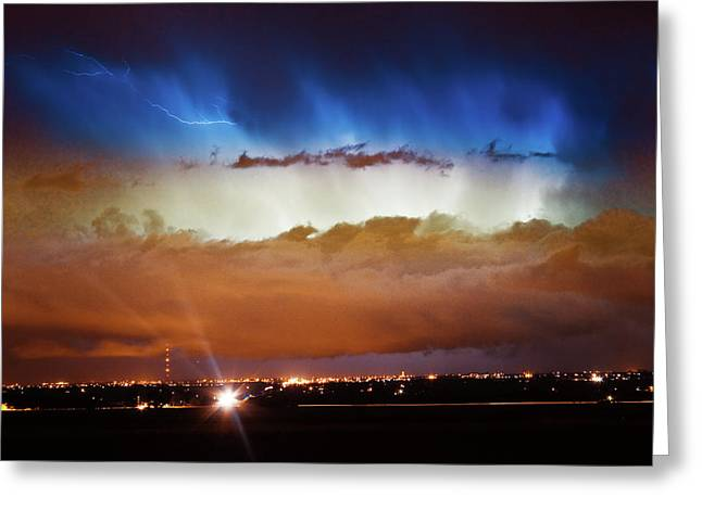 The Lightning Man Greeting Cards - Lightning Cloud Burst Boulder County Colorado IM34 Greeting Card by James BO  Insogna