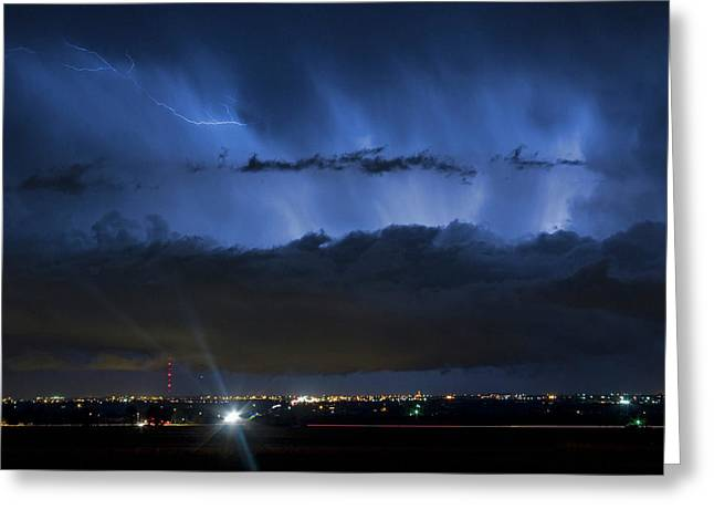 Lightning Cloud Burst Greeting Card by James BO  Insogna