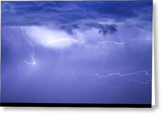 The Lightning Man Greeting Cards - Lightning in The Rain Greeting Card by James BO  Insogna