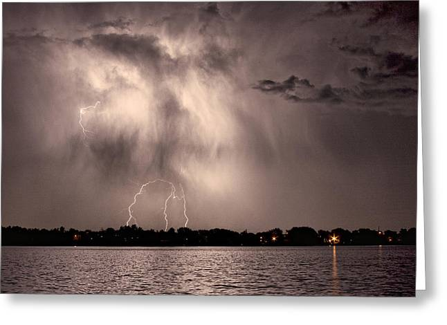 Images Lightning Greeting Cards - Lightning Man Greeting Card by James BO  Insogna