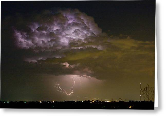 The Lightning Man Greeting Cards - Lightning Thunderstorm with a Hook Greeting Card by James BO  Insogna