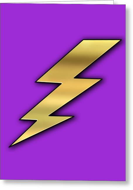 Lightning Transparent Greeting Card by Chuck Staley