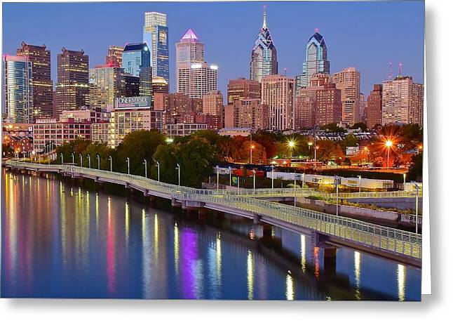 Lights In The Big City Greeting Card by Skyline Photos of America