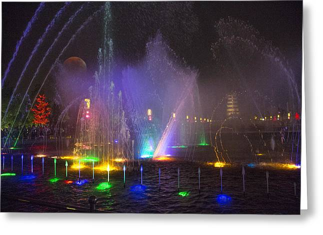 Water Display Greeting Cards - Lights of a Thousand Wishes Greeting Card by Betsy C  Knapp