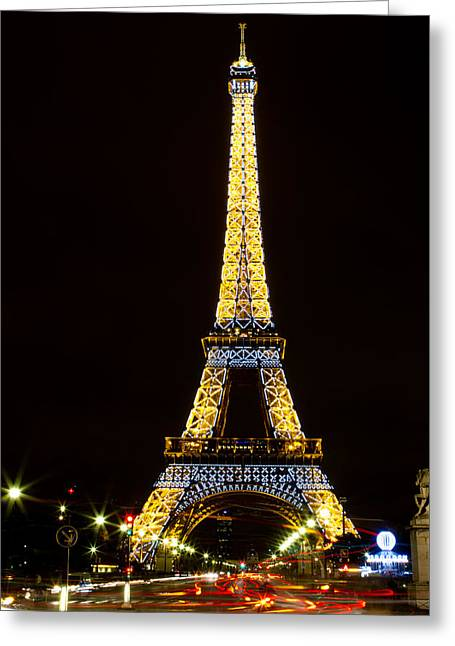 Festivities Greeting Cards - Lights on the Eiffel Greeting Card by Sharon Yanai