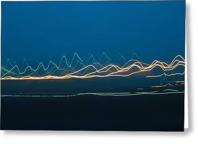 Streetlight Greeting Cards - Lightscape A Greeting Card by Sarah Crossley
