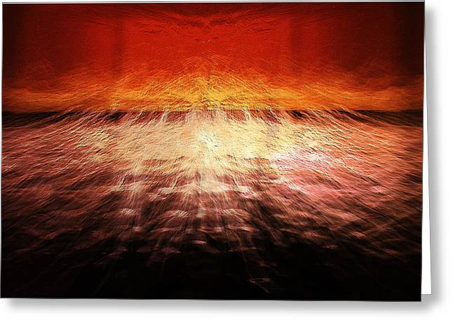 Seacape Digital Art Greeting Cards - Lightscape Greeting Card by Nick Eagles