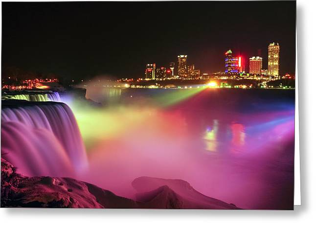 Lightshow Greeting Card by Mark Papke