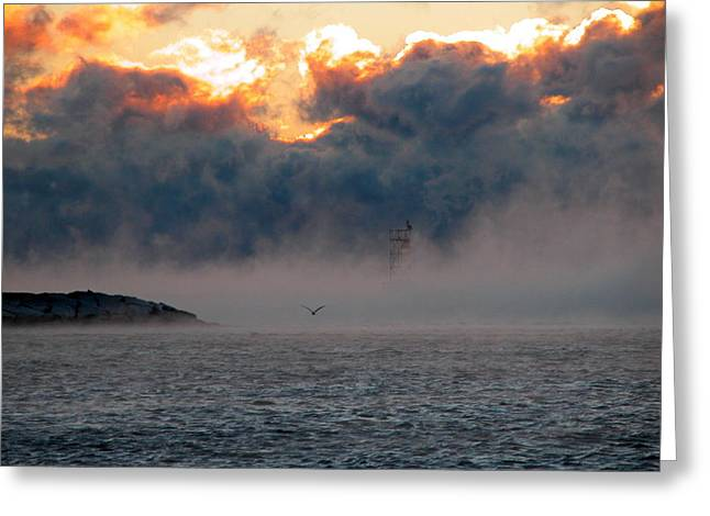 Foggy Ocean Greeting Cards - Like a bat out of hell Greeting Card by Richard Worthington