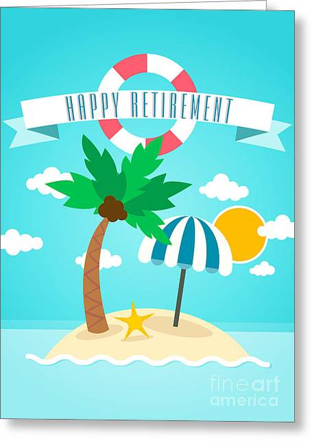 Lil Island Retirement Greeting Card by JH Designs