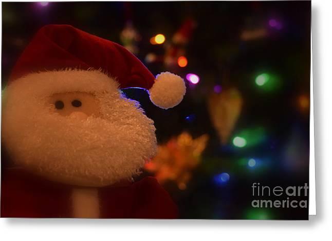 Lil Santa Greeting Card by Patti Whitten
