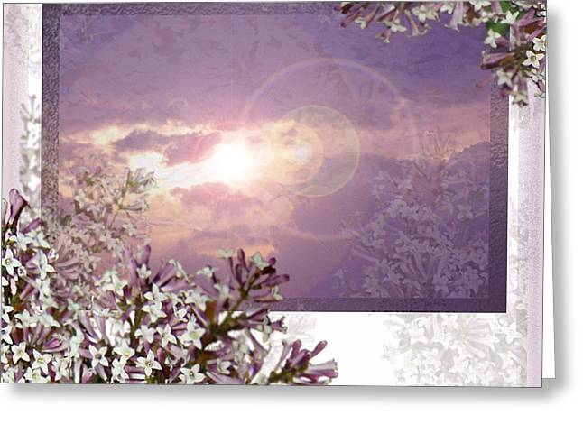 Lilac Digital Art Greeting Cards - Lilac Dreams Greeting Card by Caroline Czelatko