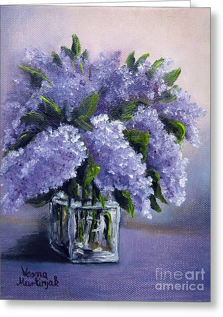 Flowers Greeting Cards - Lilac Greeting Card by Vesna Martinjak