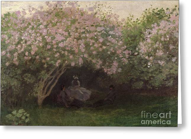 Le Jardin Greeting Cards - Lilacs Greeting Card by Claude Monet