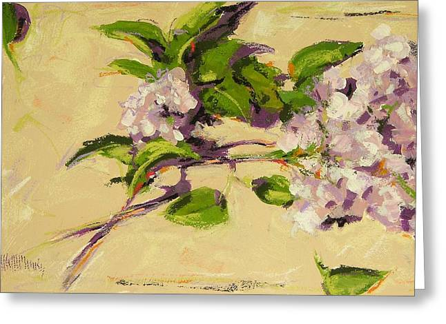 Lilac Pastels Greeting Cards - Lilacs Greeting Card by Mary McInnis